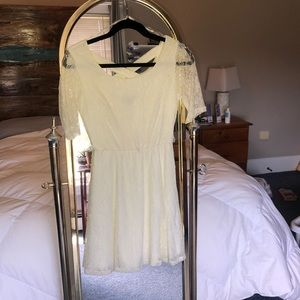 ivory lace 3/4 sleeve dress